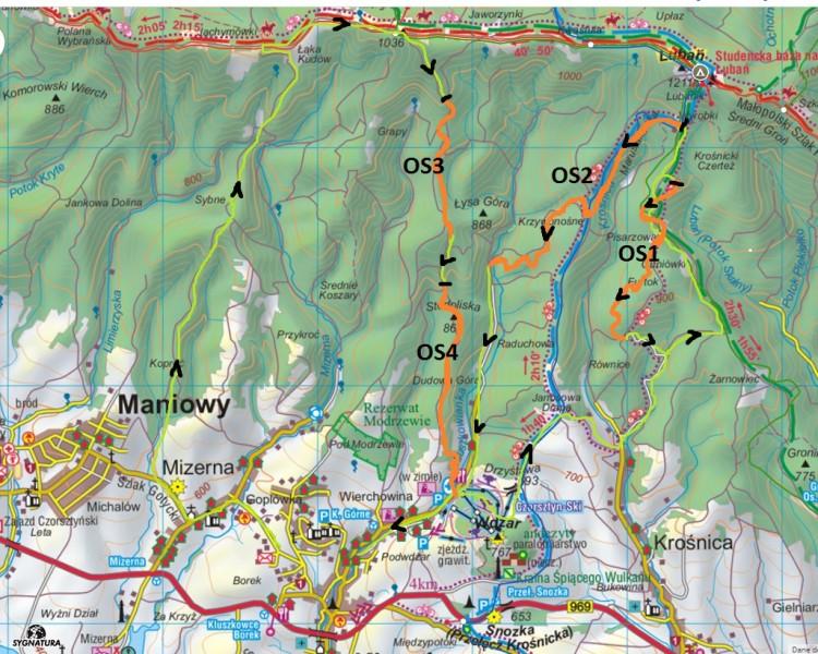 JoyRide Enduro Kluszkowce mapa trasy