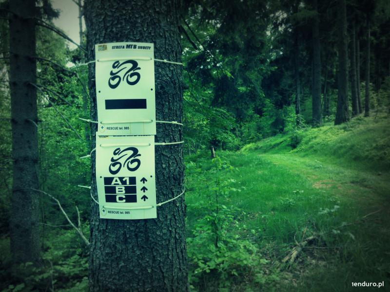 Trasy enduro Srebrna Góra oznakowanie