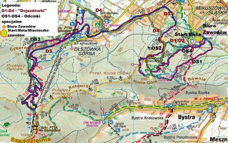 Zawody Enduro Trails Bielsko - mapa trasy