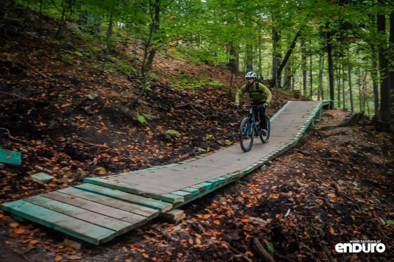 Ścieżki Enduro Trails Bielsko - kładka Stary Zielony