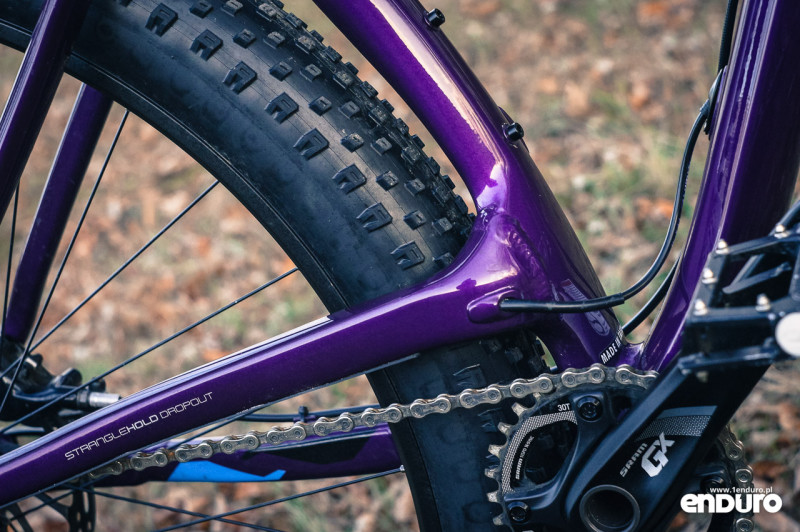 Trek Stache 7 - elevated chainstay