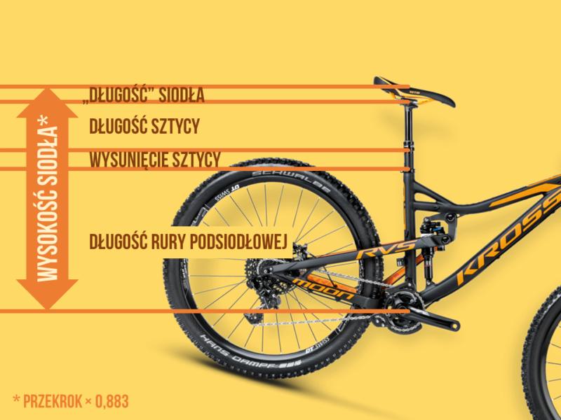 Dobór roweru enduro - długość rury a wzrost