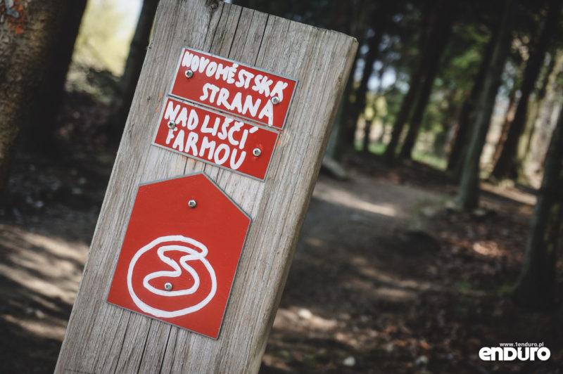 Singltrek pod Smrkem - oznakowanie czeskie