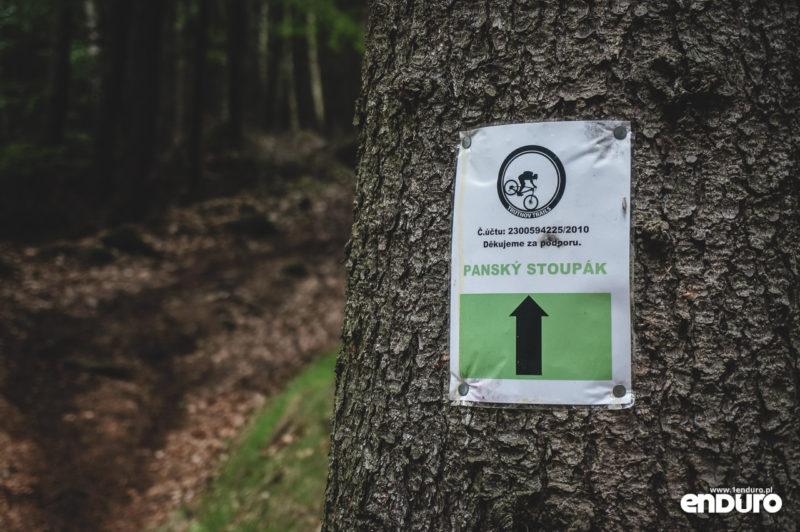 Trutnov Trails - oznakowanie Pansky Stoupak