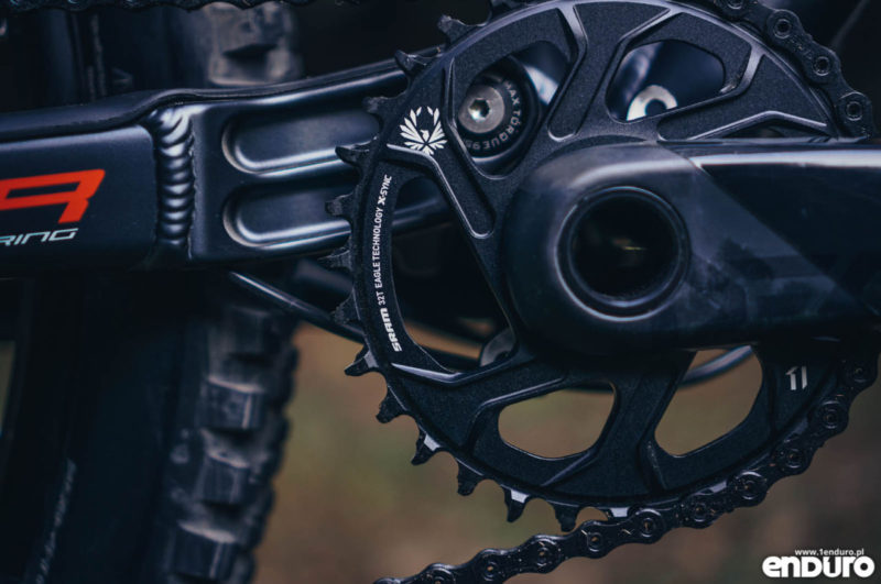 Whyte G-160 RS 2017 - SRAM Eagle chainring tooth profile