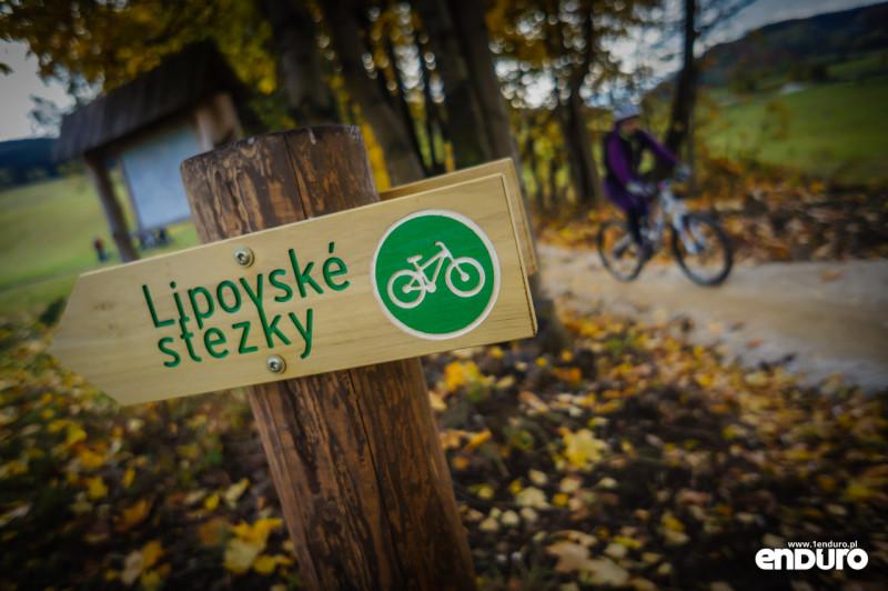 Lipowskie Ścieżki enduro oznakowanie