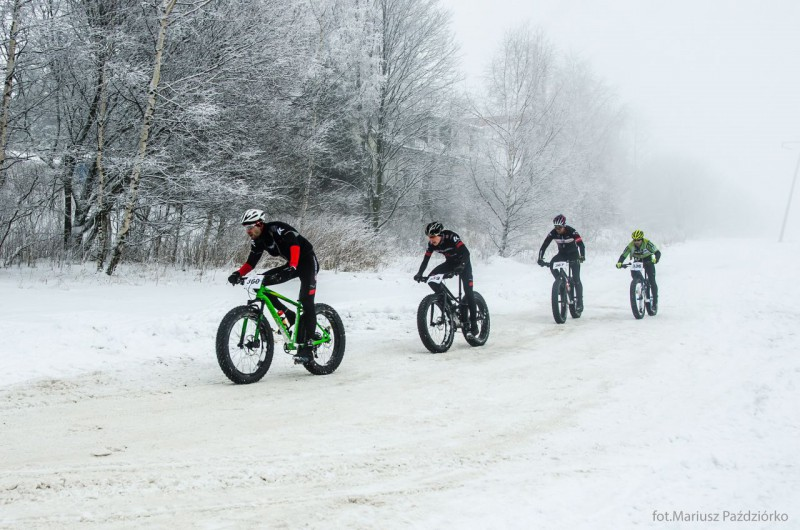 Fat Bike Race Góry Stołowe finish