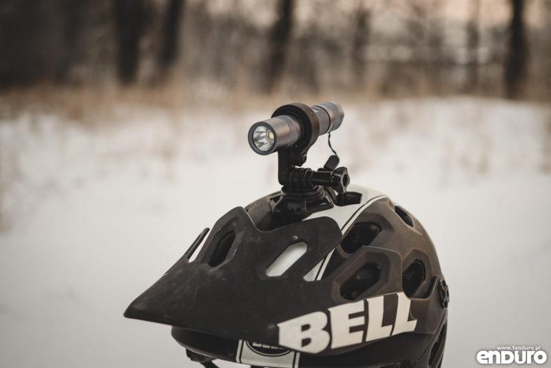 Convoy S2+ - mocowanie latarki GoPro na kask