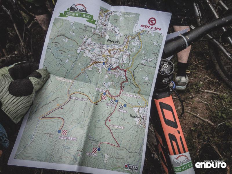 Enduro MTB Series Przesieka 2016 - mapa trasy