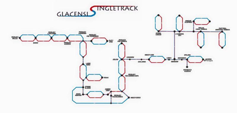 Polskie singletracki 2017-2018: Singletrack Glacensis mapa tras