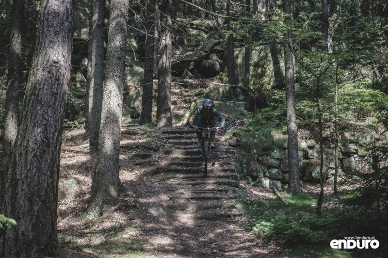 Trutnov Trails - schody Trail pod Jeskynkou