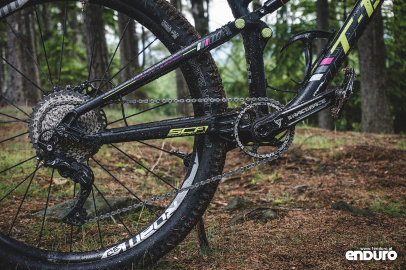 Whyte T-130 RS test - napęd Shimano XT M8000