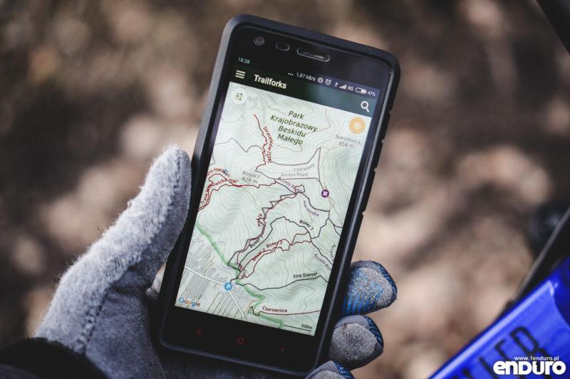 Aplikacje rowerowe na smartfona - Trailforks