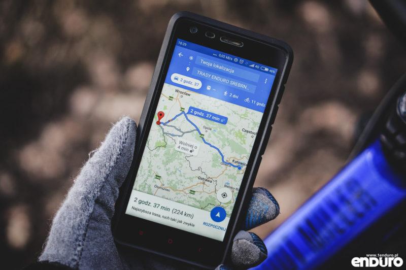Aplikacje rowerowe na smartfona - Mapy Google nawigacja