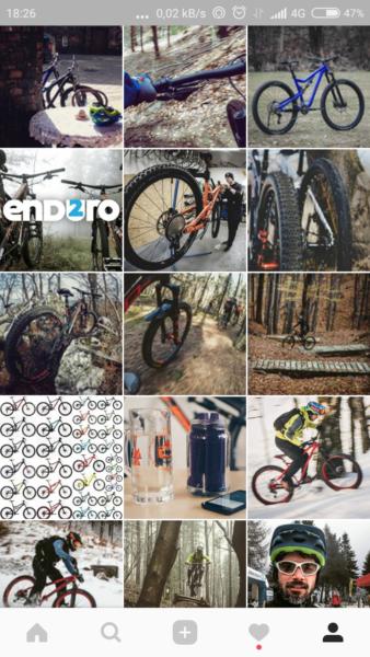 Aplikacje rowerowe na smartfona - Instagram