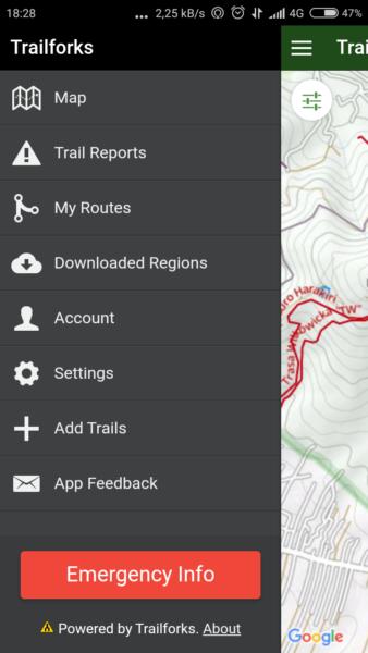 Aplikacje rowerowe na smartfona - Trailforks baza tras