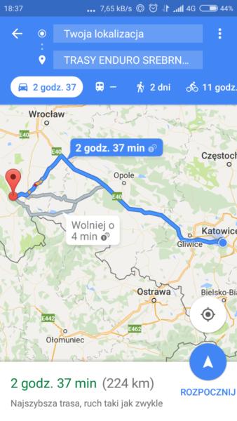 Aplikacje rowerowe na smartfona - nawigacja Mapy Google