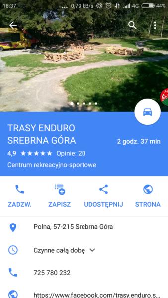 Aplikacje rowerowe na smartfona - Mapy Google