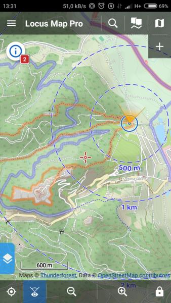 Aplikacje rowerowe na smartfona - nawigacja turystyczna Locus