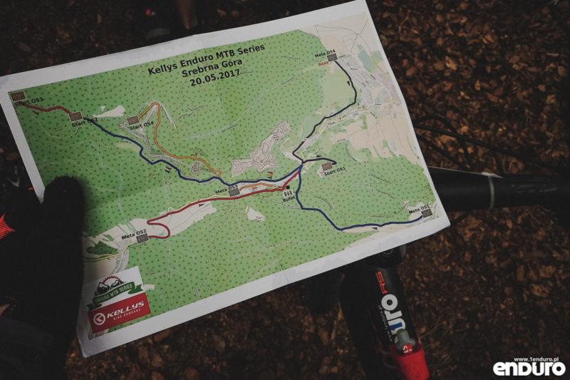 Kellys Enduro MTB Series Srebrna Gora 2017 - mapa trasy