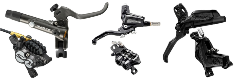 Shimano Saint BR-M820 vs Hope Tech 3 E4 vs SRAM Code RSC