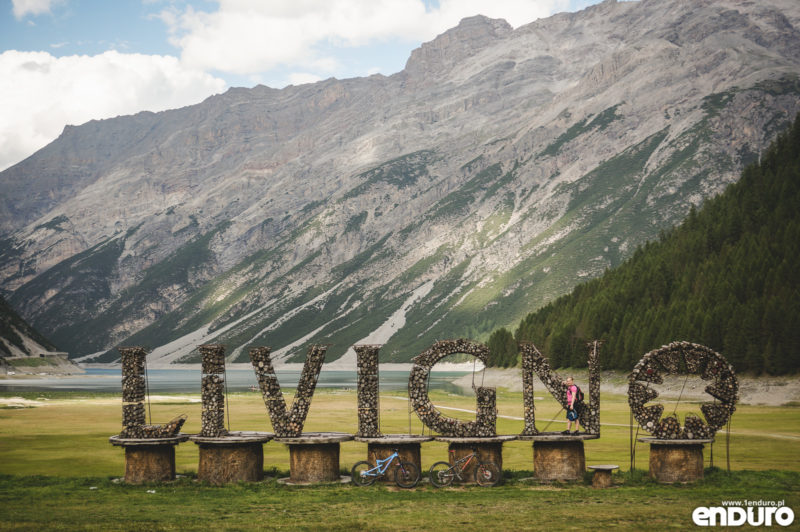Livigno sign - enduro MTB