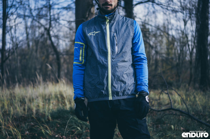 Ubrania rowerowe jesień zima - kamizelka wiatroodporna