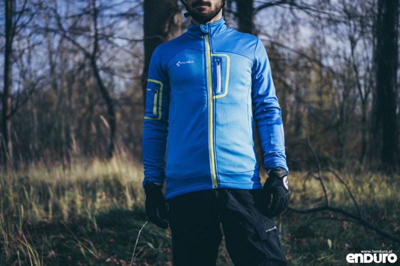 Ubrania rowerowe jesień zima - bluza rowerowa ocieplana