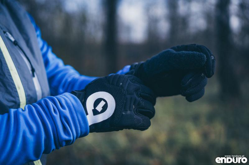 Ubrania rowerowe jesień zima - rękawiczki ciepłe