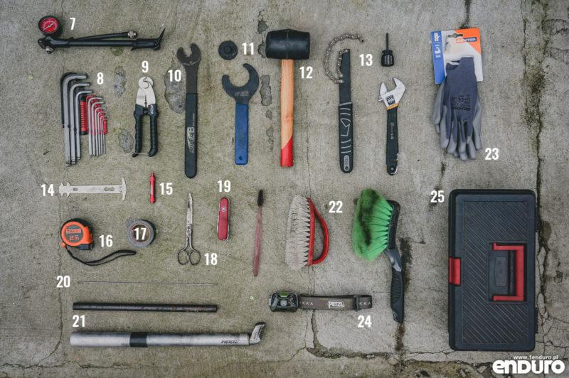 Narzędzia rowerowe do domowego warsztatu: zestaw rozszczerzony