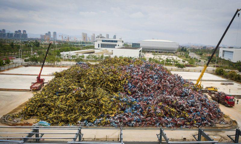 Wysypisko rowerów w Chinach
