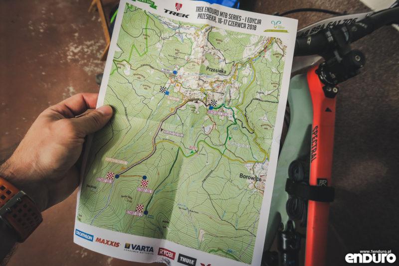 TREK Enduro MTB Series Przesieka 2018 - mapa trasy