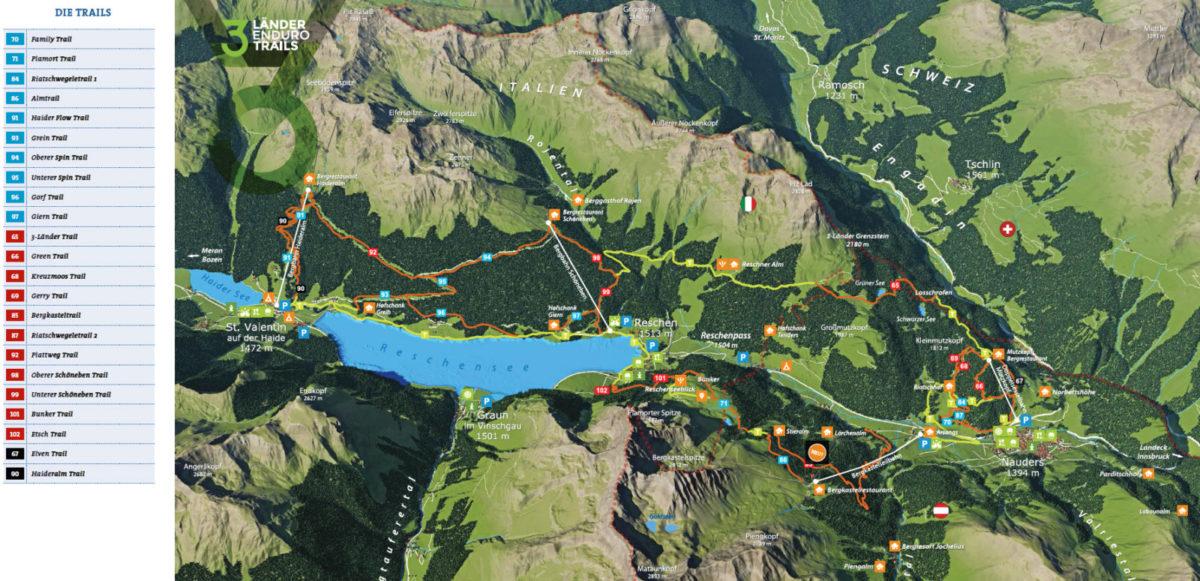 3-Lander Enduro Trails mapa tras