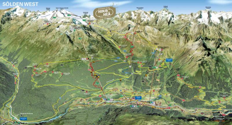 Bikepark Bike Republic Solden - mapa tras