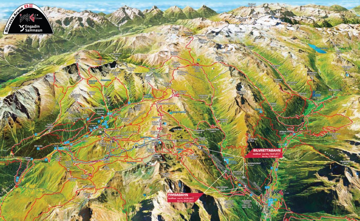 Mapa tras enduro MTB Ischgl
