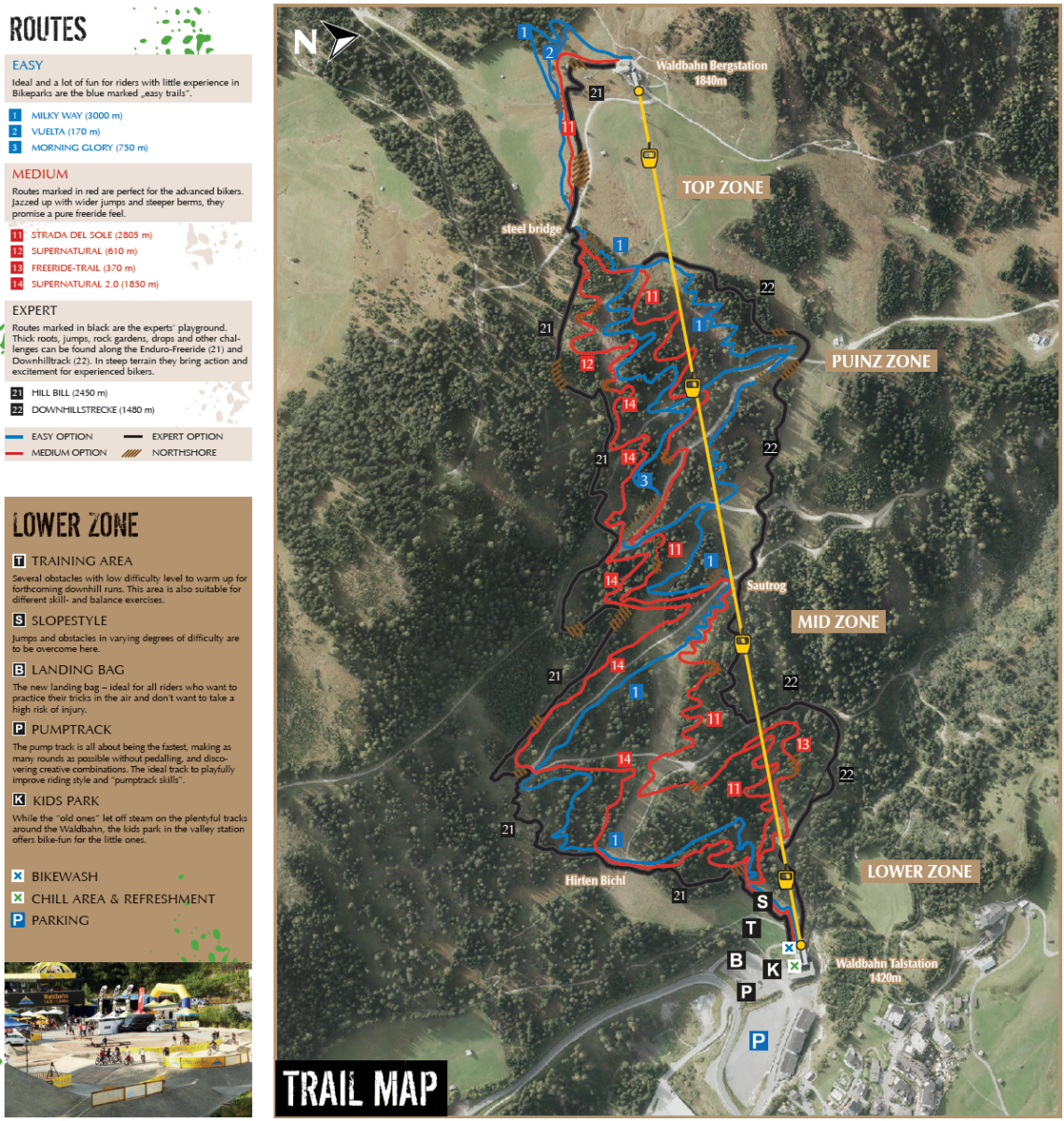 Serfaus-Fiss-Ladis Bikepark Map