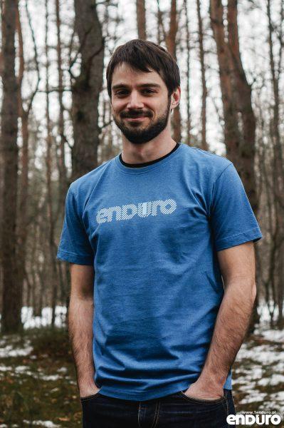 T-shirt 1Enduro Niebieski