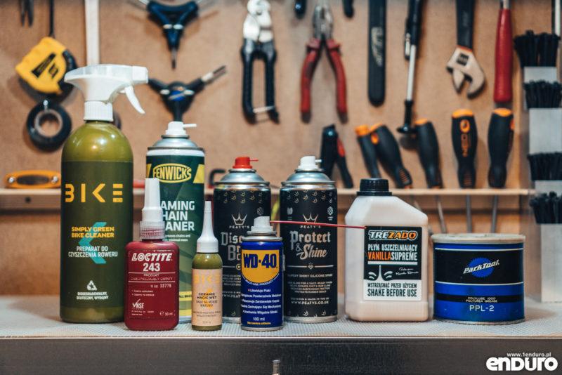 Chemia rowerowa - oleje, smary i odtłuszczacze w domowym warsztacie